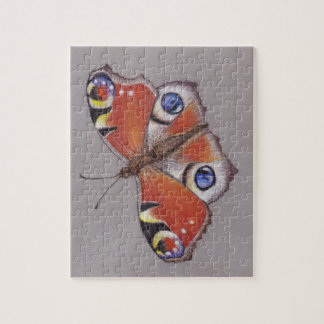 Quebra-cabeça Serra de vaivém com design 8x10 da borboleta de