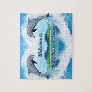 Quebra-cabeça Serra de vaivém do golfinho dos azuis bebés