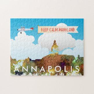 Quebra-cabeça SG da skyline de Annapolis, Maryland - lustre do