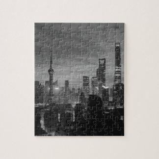 Quebra-cabeça Shanghai preto e branco