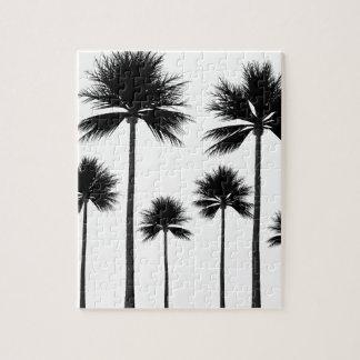 Quebra-cabeça Silhueta da palmeira