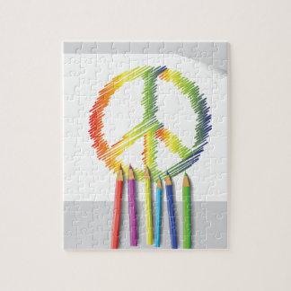 Quebra-cabeça sinal de paz