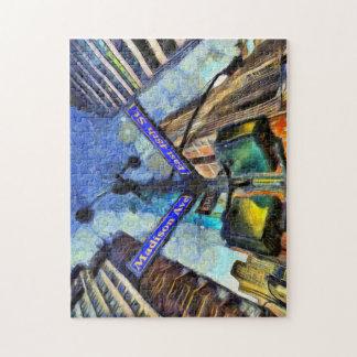 Quebra-cabeça Sinal de rua Van Gogh de New York