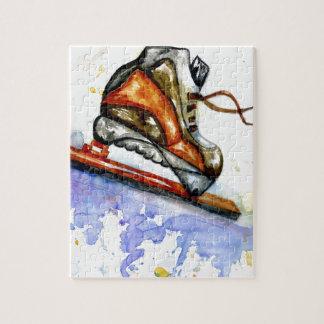 Quebra-cabeça Skate de gelo da aguarela