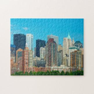 Quebra-cabeça Skyline New York de Manhattan.