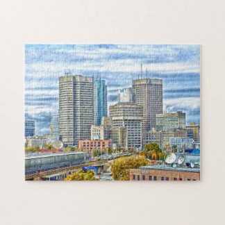 Quebra-cabeça Skyline Winnipeg Canadá
