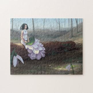 Quebra-cabeça Snowdrop - menina da fantasia que senta-se na