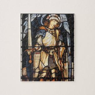 Quebra-cabeça St Michael por Burne Jones, arcanjo do vintage