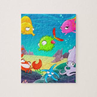 Quebra-cabeça subaquático da foto 8x10 com caixa