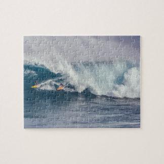 Quebra-cabeça Surfistas extremamente difíceis da onda de oceano