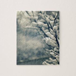 Quebra-cabeça Tapete do rato nevado da árvore