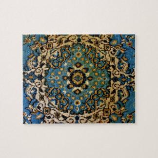 Quebra-cabeça Tapete oriental azul