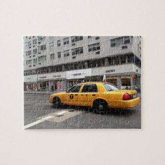 Quebra-cabeça Táxi de táxi superior NYC do amarelo da zona leste