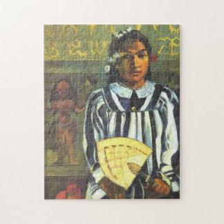 """Quebra-cabeça """"Tehamana tem muitos antepassados"""" - Paul Gauguin"""