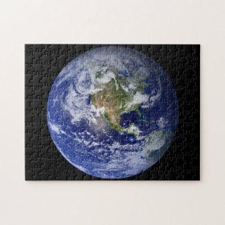 Quebra-cabeça Terra azul do planeta