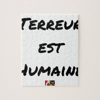 Quebra-cabeça TERROR LESTE HUMANO - Jogos de palavras François