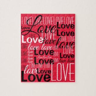 Quebra-cabeça Teste padrão da arte da palavra do amor