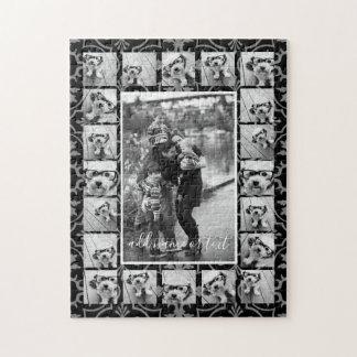 Quebra-cabeça Teste padrão da colagem e do azulejo de 21 fotos -