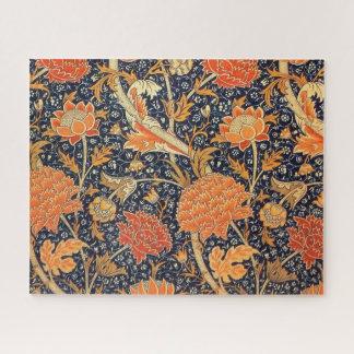 Quebra-cabeça Teste padrão floral de Nouveau da arte de William