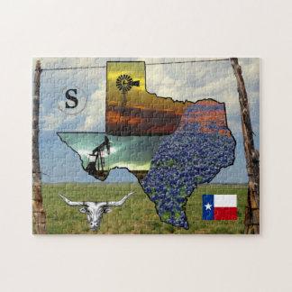Quebra-cabeça - Texas - mapa, fotos coloridas,