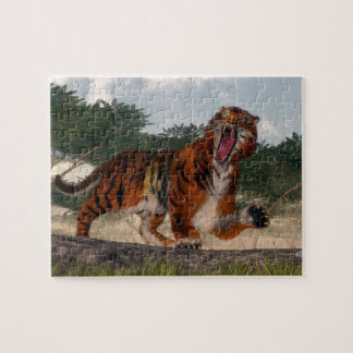 Quebra-cabeça Tigre que ruje - 3D rendem
