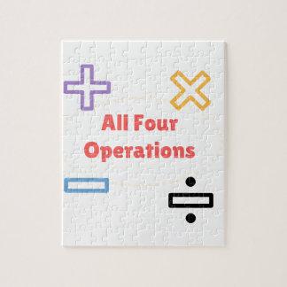 Quebra-cabeça Todas as quatro operações