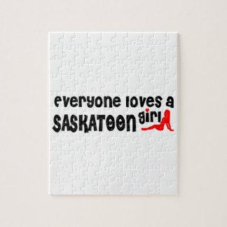 Quebra-cabeça Todos ama uma menina de Saskatoon