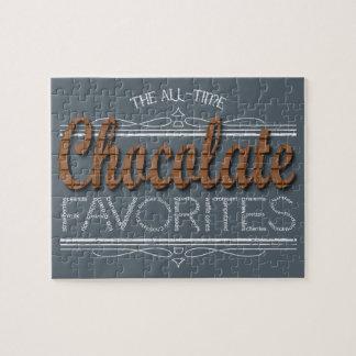 Quebra-cabeça Todos os favoritos do chocolate