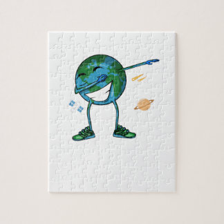 Quebra-cabeça Toque ligeiro da terra do planeta
