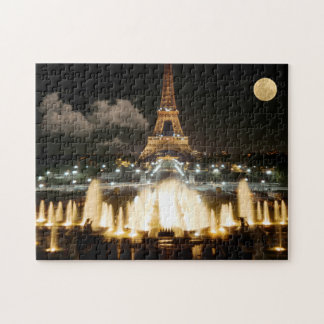 Quebra-cabeça Torre Eiffel na noite