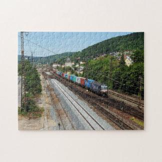 Quebra-cabeça Trem de carga em Gemünden a Main