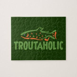 Quebra-cabeça Truta engraçada que pesca Troutaholic