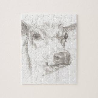Quebra-cabeça Um desenho de uma vaca nova