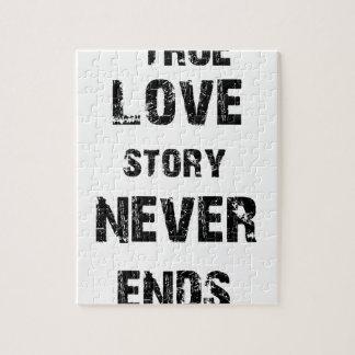 Quebra-cabeça uma história de amor verdadeira nunca termina