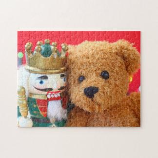 Quebra-cabeça Urso e nutcracker de ursinho