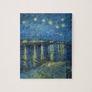Quebra-cabeça Van Gogh: Noite estrelado sobre o Rhone
