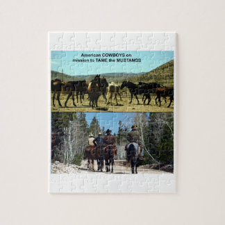 Quebra-cabeça Vaqueiros americanos na viagem aos cavalos do