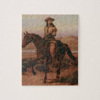Quebra-cabeça Vaqueiros do vintage, Buffalo Bill em Charlie por