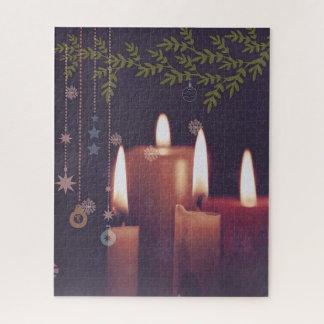 Quebra-cabeça velas do Natal