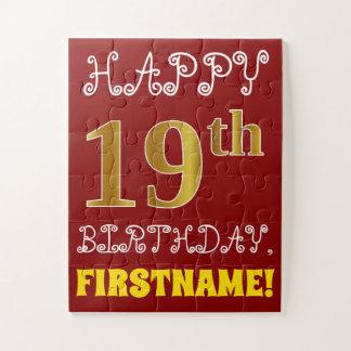 Quebra-cabeça Vermelho, aniversário do ouro do falso 19o +