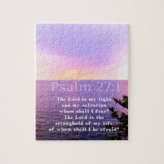 Quebra-cabeça VERSO INSPIRADO da BÍBLIA do 27:1 do salmo