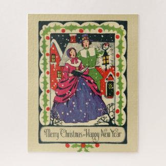 Quebra-cabeça Vestidura tradicional do Natal do Victorian do