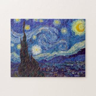 Quebra-cabeça VINCENT VAN GOGH - noite estrelado 1889