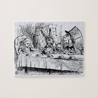 Quebra-cabeça Vintage Alice no país das maravilhas, cena do tea