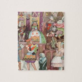 Quebra-cabeça Vintage Alice no país das maravilhas, rainha dos