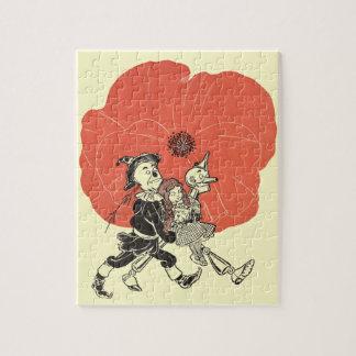 Quebra-cabeça Vintage mágico de Oz, Dorothy com flores da