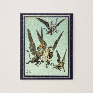 Quebra-cabeça Vintage mágico de Oz, macacos de voo com Dorothy