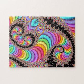 Quebra-cabeça visão espiral do fractal