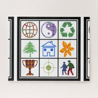 Quebra-cabeça Vise o reciclar do yinyang do globo do jogo de