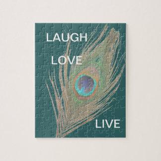 Quebra-cabeça Vivo, riso, pena do pavão do amor